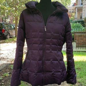 Purple down jacket